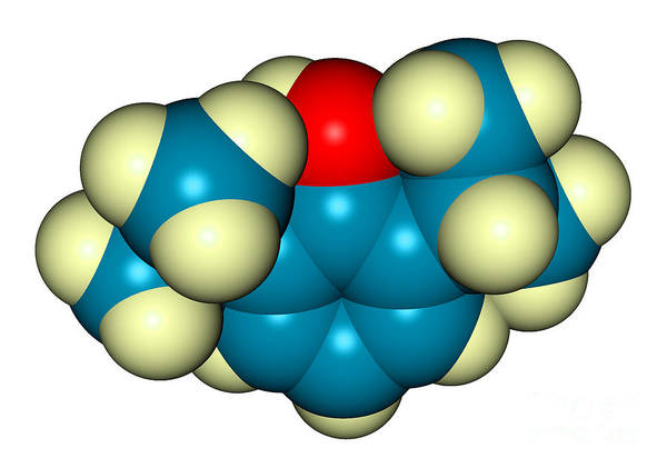 Michael Jackson Photograph - Propofol Diprivan Molecular Model by Scimat