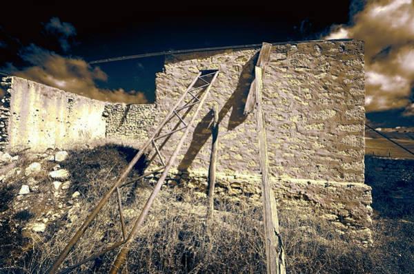Wall Art - Photograph - Propped Up Barn by Wayne Sherriff