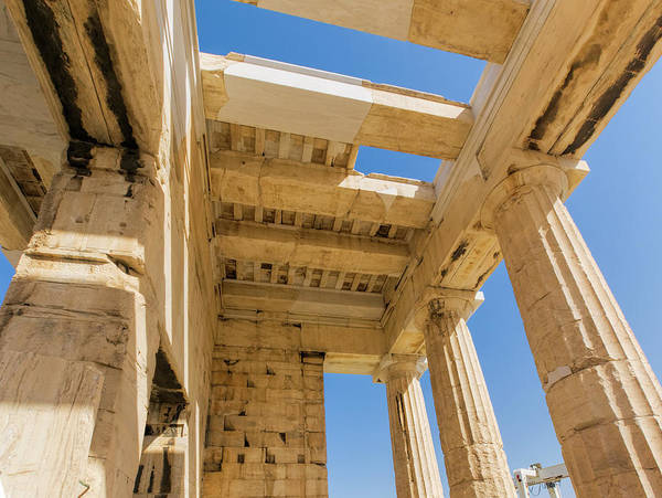Photograph - Propylaia Stone Rafters by S Paul Sahm