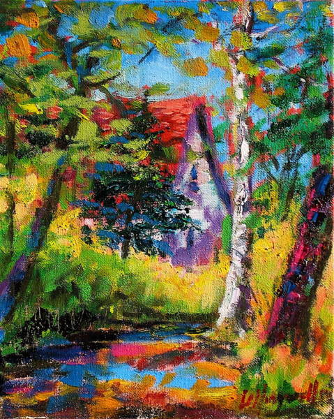 Painting - Prospect Driveway by Les Leffingwell