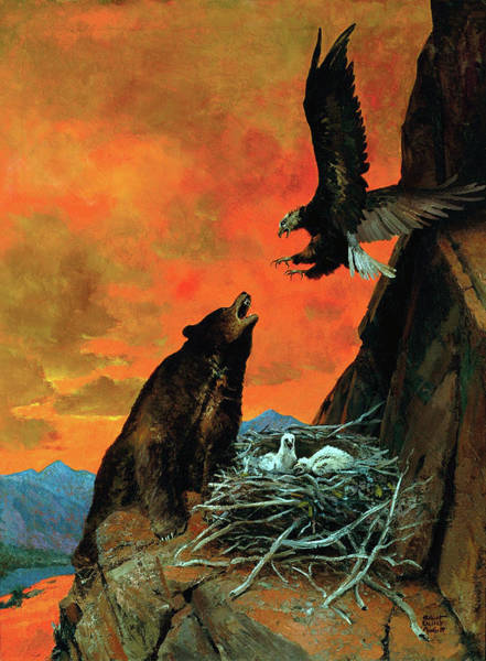 Painting - Protecting The Nest by Robert Wesley Amick