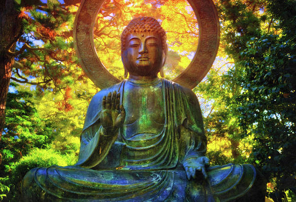 Gautama Photograph - Protection Buddha #2 In Japanese Tea Garden At Golden Gate Park - San Francisco by Jennifer Rondinelli Reilly - Fine Art Photography