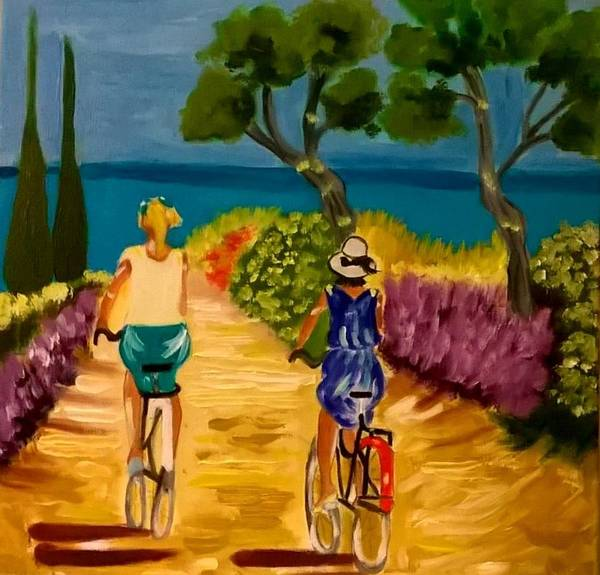 Painting - Provencal Plage by Rusty Gladdish