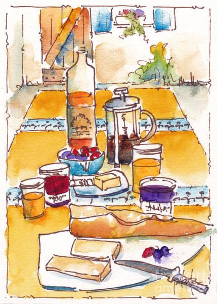 Painting - Provencale Petit Dejeuner by Pat Katz