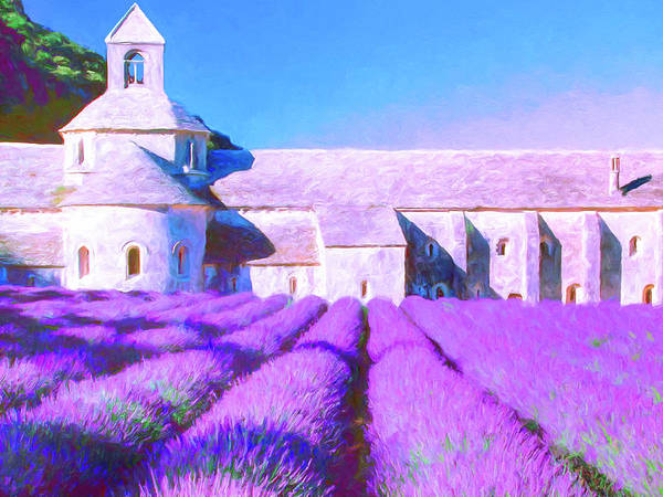 Painting - Provence Lavender And Old Abbey by Dominic Piperata