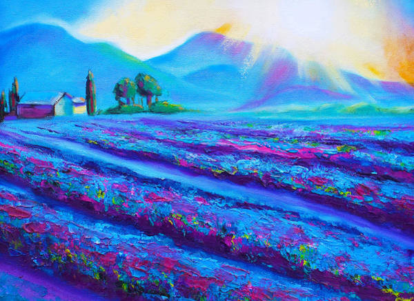 Susi Wall Art - Painting - Provence Lavender Dawn by Susi Franco