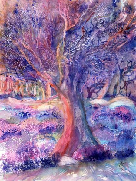 Southern France Painting - Provence Olive Tree In Lavender Field by Sabina Von Arx