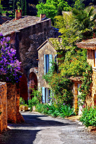 Wall Art - Photograph - Provence Village Street In Spring by Olivier Le Queinec