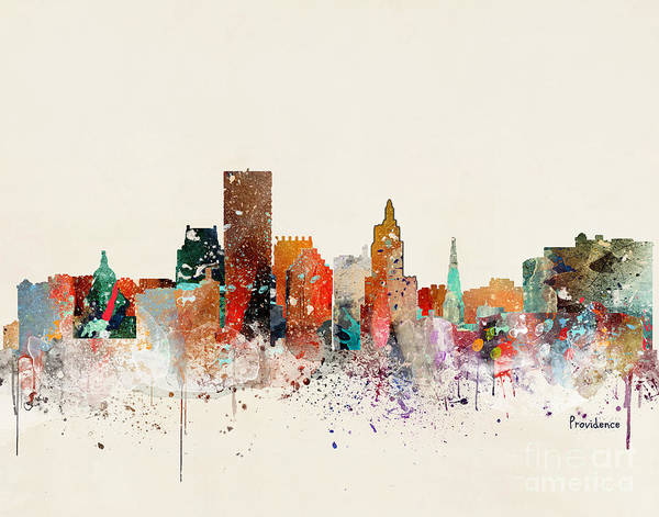 Wall Art - Painting - Providence Skyline by Bri Buckley