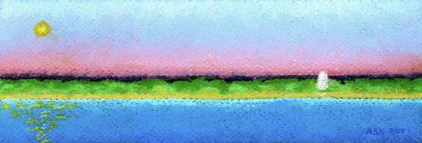 Pastel - Provincetown Departure by Anne Katzeff