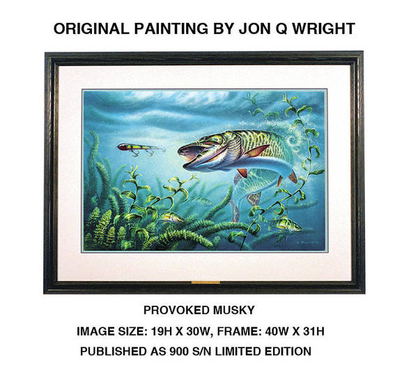 Freshwater Wall Art - Painting - Provoked Musky by JQ Licensing