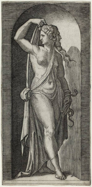 Drawing - Prudence by Marcantonio Raimondi