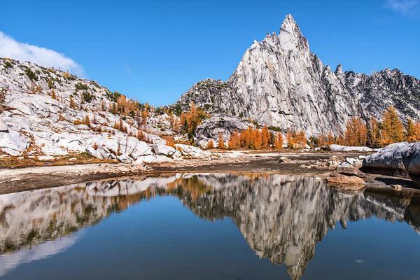 Prusik Peak Reflected In Gnome Tarn Art Print