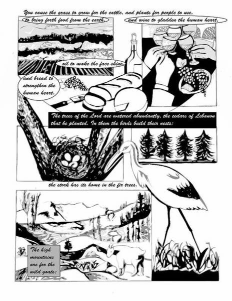 Digital Art - Psalm 104 Comic Page 5 by Anne Cameron Cutri