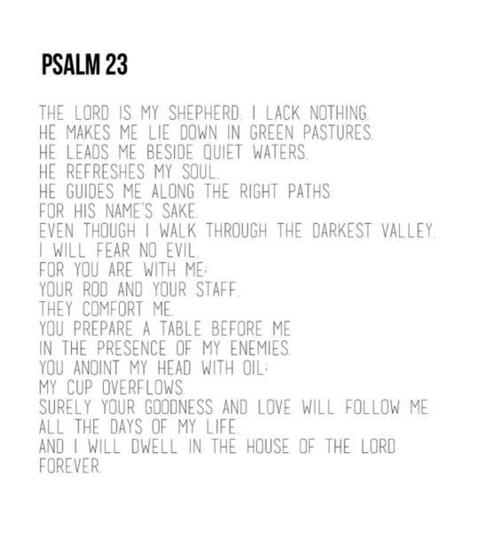 Photograph - Psalm 23 #minimalist by Andrea Anderegg