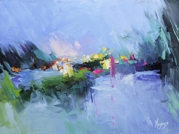 Rain Song Painting - Psalm 29 God In The Storm by Mike Moyers