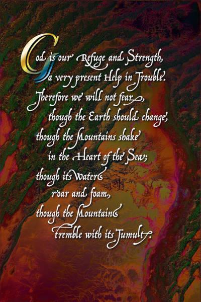 Digital Art - Psalm 46 by Chuck Mountain