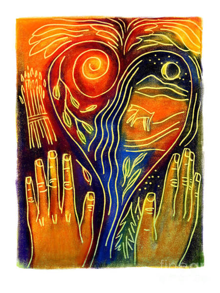 Painting - Psalm Prayer - Jlpsp by Julie Lonneman