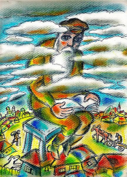 Shofar Wall Art - Painting - Psalms, The Ladder Of Jacob by Leon Zernitsky
