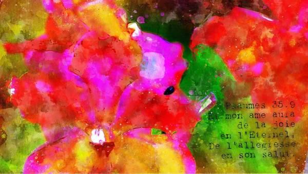 Digital Art - Psaumes 35-9 by Payet Emmanuel