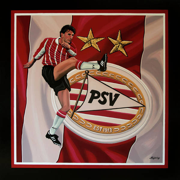Stadium Painting - Psv Eindhoven Painting by Paul Meijering