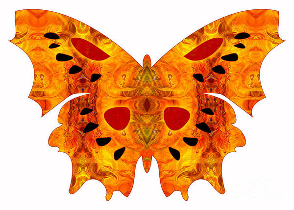 Digital Art - Psychadelic Futures And Abstract Butterflies By Omashte by Omaste Witkowski
