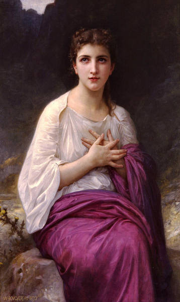 Painting - Psyche 1892 by William Bougeureau