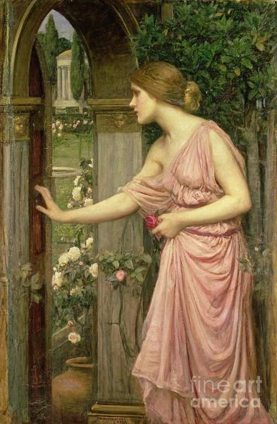 Wall Art - Painting - Psyche Entering Cupid's Garden by John William Waterhouse