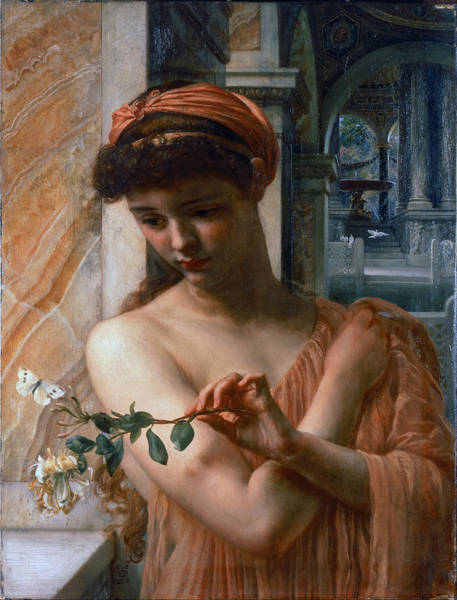 Wall Art - Painting - Psyche In The Temple Of Love  by Edward John Poynter