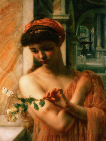 Wall Art - Painting - Psyche In The Temple Of Love by Sir Edward John Poynter