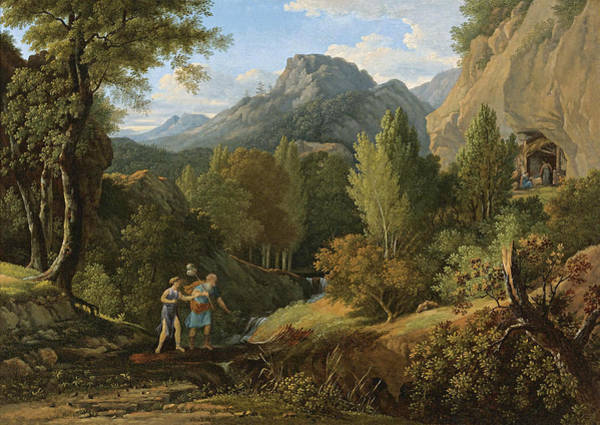 Wall Art - Painting - Psyche Searching For Cupid by Pierre-Henri de Valenciennes