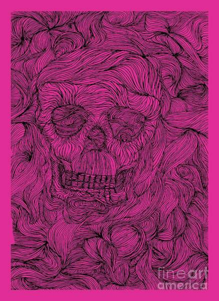 Steaks Digital Art - Psychedelic And Visionary Art Threads Of A Skull Skull Threads by Paul Telling