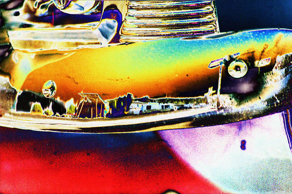 Photograph - Psychedelic Chevy Bumper by Richard Henne