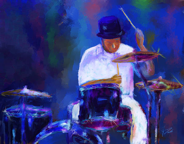 Digital Art - Drummer Painting by Eduardo Tavares