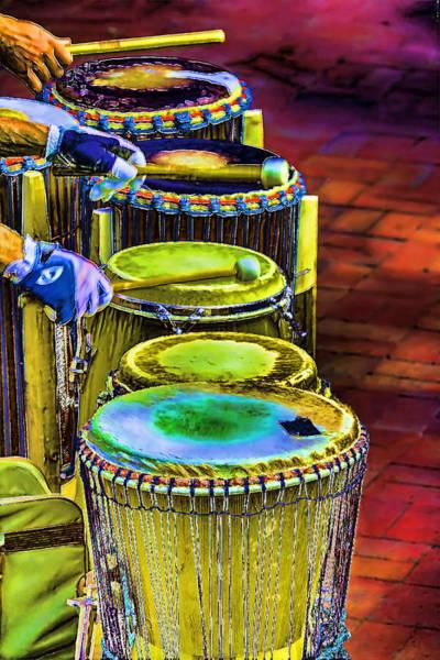 Drum Circle Wall Art - Digital Art - Psychedelic Drums by John Haldane