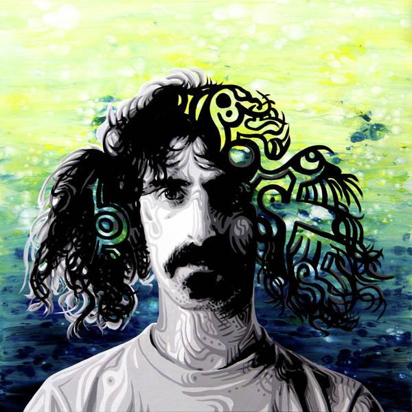 Frank Zappa Painting - Psychedelic Frank Zappa Portrait by Ocean Clark