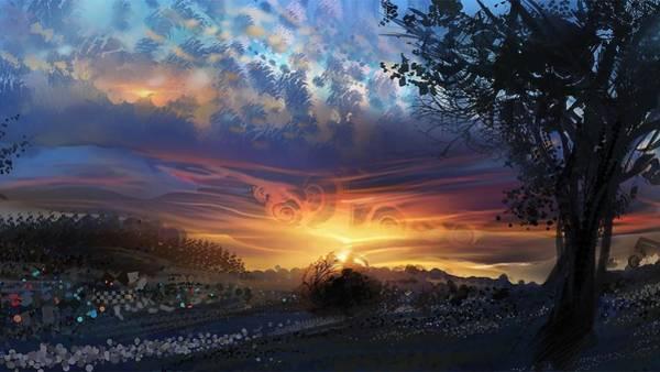 Landscape Digital Art - Psychedelic by Maye Loeser