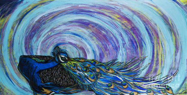 Painting - Psychedelic Peacock by Rebecca Weeks Howard