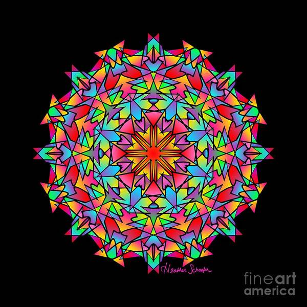 Digital Art - Psychedelic Porcupine Mandala by Heather Schaefer