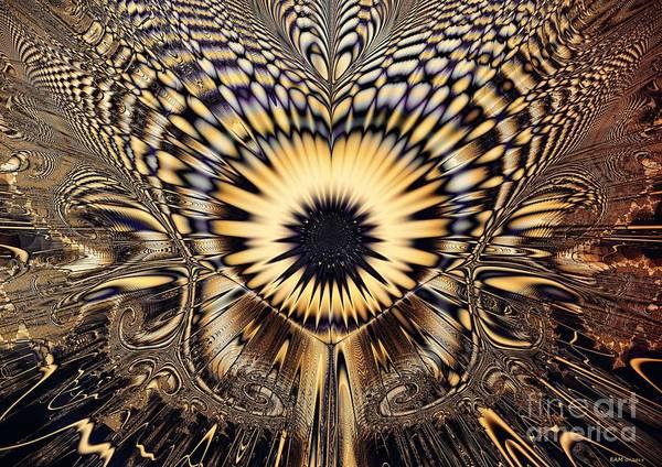 Psychedelia Digital Art - Psychedelic Sunflower  by Elizabeth McTaggart