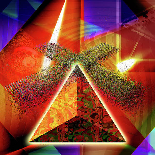 Showpiece Digital Art - Psychedelic Windmill by Andy Young