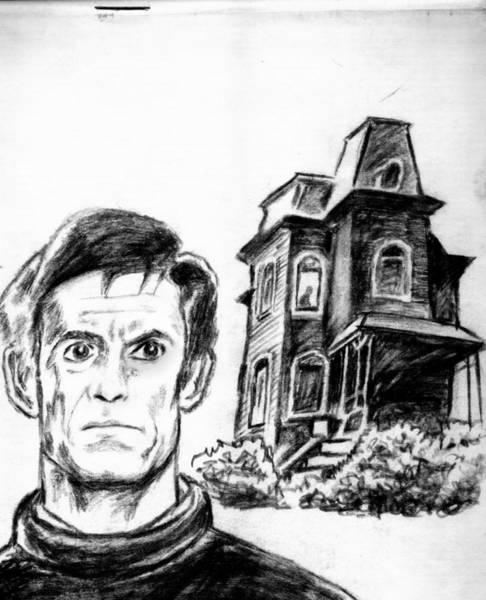 Haunted House Drawing - Psycho 2 by Salman Ravish