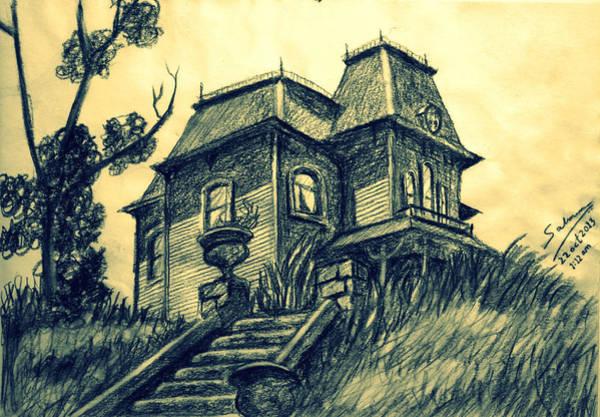 Haunted House Drawing - Psycho by Salman Ravish