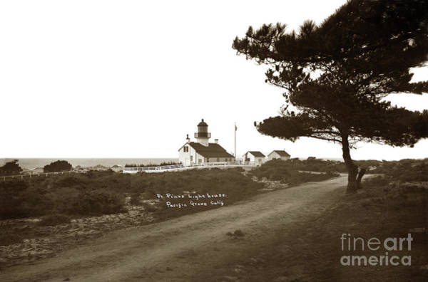 Photograph - Pt. Pinos Lighthouse,  Pacific Grove Circa 1895 by California Views Archives Mr Pat Hathaway Archives