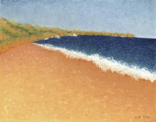 Pastel - Pt. Reyes Beach by Anne Katzeff