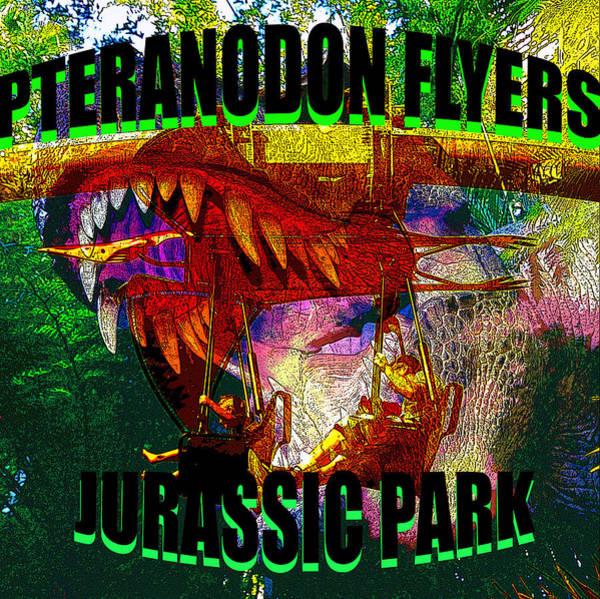 Wall Art - Digital Art - Pteranodon Flyers T Shirt Design A by David Lee Thompson