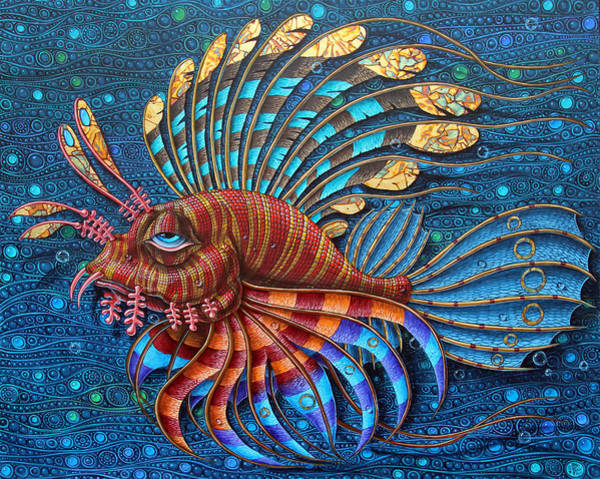 Painting - Pterois by Victor Molev