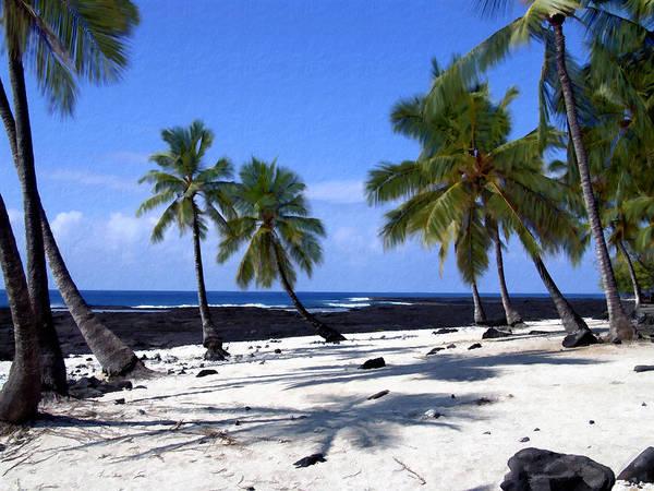 Big Island Digital Art - Pu Uhonua O Honaunau by Kurt Van Wagner