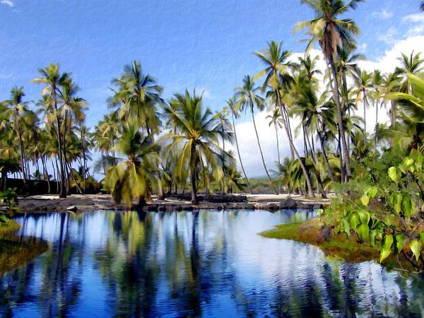 Big Island Digital Art - Pu Uhonua O Honaunau Pond by Kurt Van Wagner