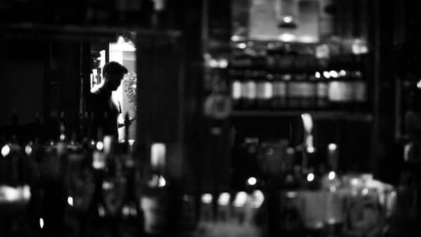 Faceless Photograph - Pub Reflections - Dublin, Ireland - Black And White Street Photography by Giuseppe Milo